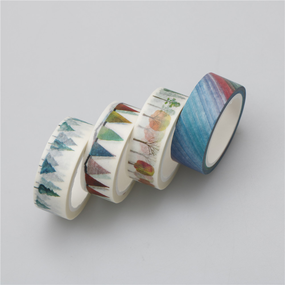 15mm*7m rainbow flags Hope tree DIY Washi tapes Masking Tape DIY Decorative Adhesive Tape dairy decor School Supplies Stationery