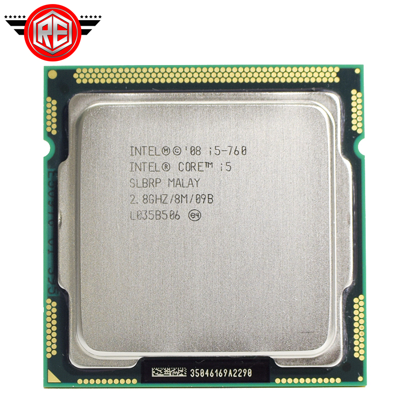 Intel Core i5 760 Processor 2.8 GHz 8MB Cache Socket LGA1156 45nm Desktop CPU