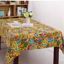 100% Cotton Table Cloth National Style Flora Reactive Print High Quality Tablecloth Table Cover manteles para mesa Free Shipping