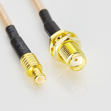 ALLISHOP 7CM SMA female bulkhead to MCX male straight RF cable assembly RG178 Mini-PCI RF Cable #Rocheuk#(China)