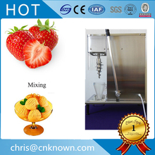 tap water(valve) self-cleaning swirl fruit frozen yogurt mixer fruit frozen yogurt mixing machine ice cream shaker(China)