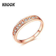 J122 Rose Gold ring   women  jewelry wedding ring  With Austrian  Crystal Ring  18KGP Rose Gold ring Free shipping