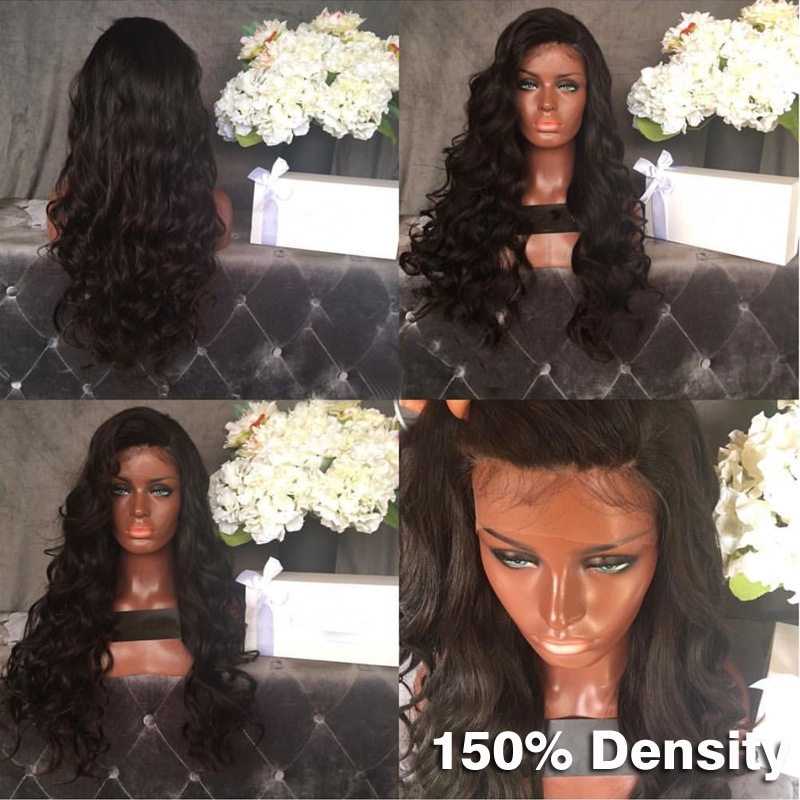Malaysia Virgin Hair Body Wave Full Lace Human Hair Wigs With Baby Hair Lace Front Human Hair Wig For Black Women Full Lace Wigs<br><br>Aliexpress