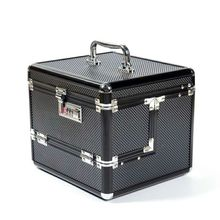 Hot Sale new Professional Aluminium alloy Make up Box Makeup Case Beauty Case Cosmetic Bag Multi Tiers Lockable Jewelry Box(China)