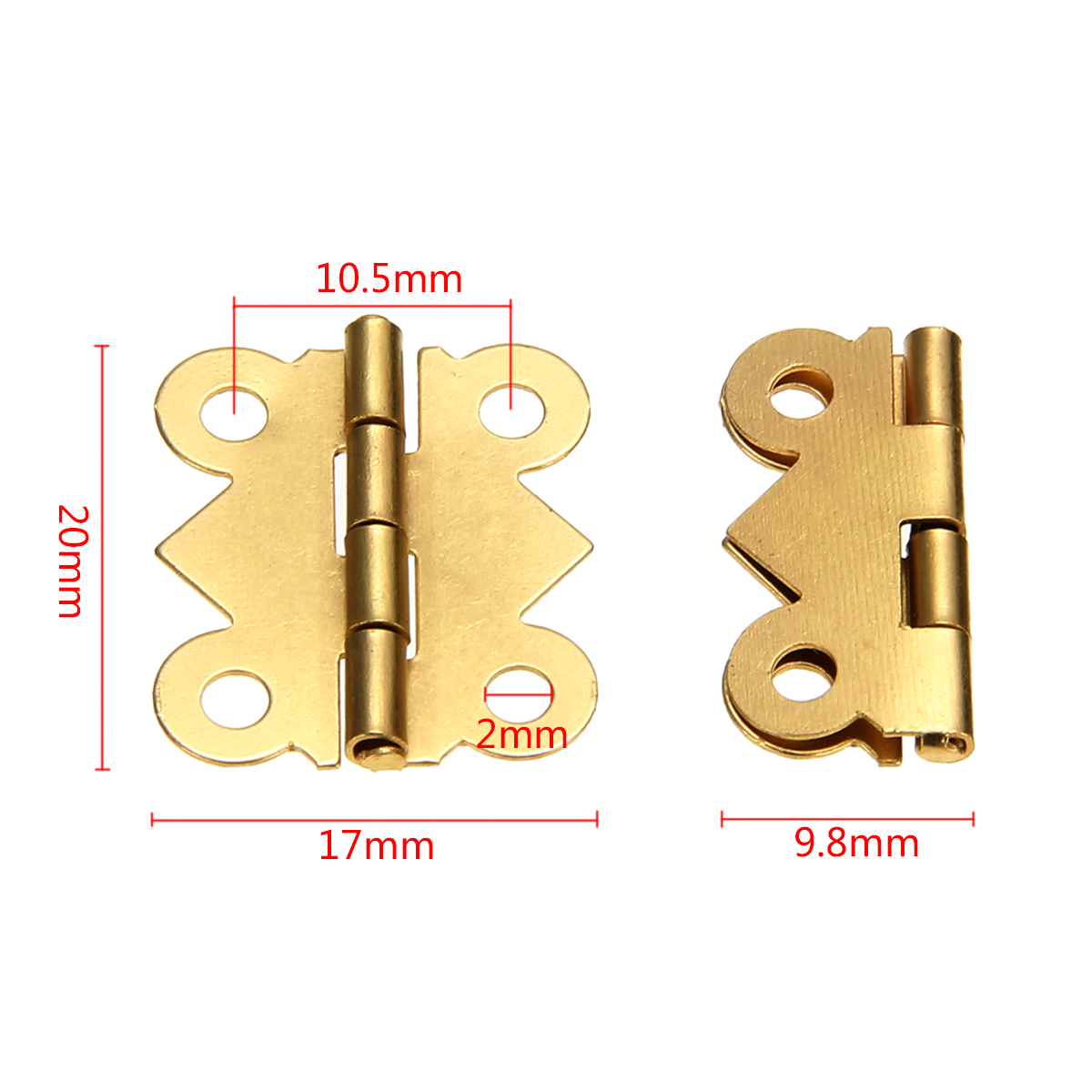 10pcs/set Mini Butterfly Iron Hinges Cabinet Drawer Door Hinge Jewelry Box DIY Tool With Screws For Furniture Hardware Accessory