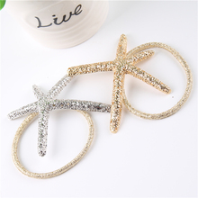 Fashion Elastic Hair Band Hollowed-Out Fascinator Starfish Silicone Rubber Bands for Hair Women Accessories 2F3001