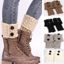 Hot New 2016 Fashion Women Ladies Winter Knit Crochet Leg Warmers Knee High Trim Boot Legging Wamer High Quality Cheap DM#6