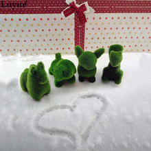 Luyue 4pcs/lot Artificial Grass Turf Small Cute Simulation Fake Animals Toy Flower Decorations land Christmas Decor(China)