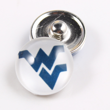 West Virginia 18mm Snap Button Fit Ginger Snap Bracelet Bangles NCAA Football Baseball Series Jewelry 10PCS
