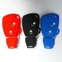 FOB Key Shell Silicon Car Key Case Mercedes Benz B C E ML S CLK CL CLS SLK Class Sprinter 2 Button Remote Cover