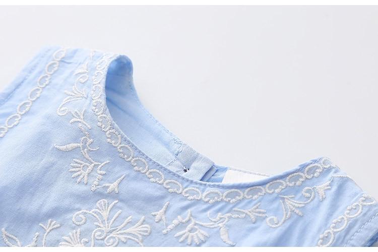 2018 Hot Summer 2-10 Years Brief Kids Lace Embroidery Flower Floral Sleeveless Flounce Vest Tank Sundress Girls Dress Cotton (12)