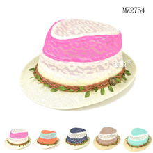 2015 new Fashion Hollow out Color matching rural hat children cool Sun Hats unisex Summer Hat 5ps/lot(China)