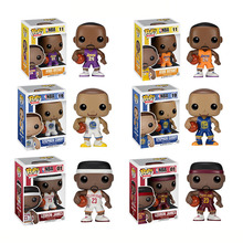 Funko pop NBA Basketball Super Star Player Kobe Bryant Lebron James Stephen Curry 6 Type 10cm Vinyl Figure Model Collection gift