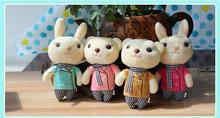 Phone Decoration Wedding Doll Wholesale 13CM 6PC/LOT Bear /Rabbit Design Hot Cheap Gift CY-XX