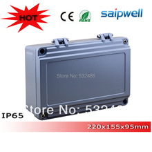 2015 Hot sale,high qulity IP65 Aluminum Electronic Enclosure with Hinge and 4 Screws 220*155*95mm