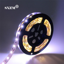 SXZM 7020 LED strip flexible DC12V safe led tape lighting Not waterproof 5M/roll 300 leds Warm white/white free shipping