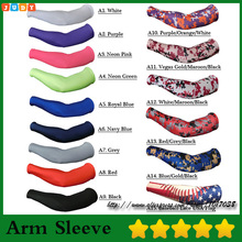 2016 Camo Sports Arm Sleeve for softball, baseball Compression arm sleeve 128 color 7 size(China)