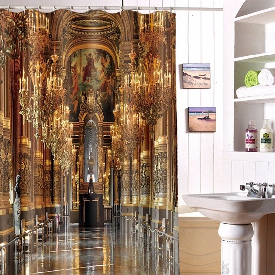 Home-Decoration-Luxury-Palace-Print-Polyester-Fabric-Modern-Shower-Curtain-Eco-Friendly-Waterproof-Bathroom-Curtain