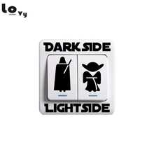 Classic Movie Star Wars Dark Side Light Side Switch Sticker Cartoon Vinyl Wall Sticker for Kids Room Bedroom Home Decor 001(China)
