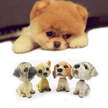 Home Decor Shaking Head Toy Arts And Crafts Cartoon Nodding Dog Simulation Bobble Head Dog For Home Decoration Accessiories(China)