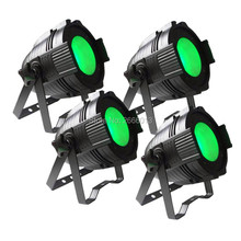 4pcs/lot 100W COB LED Par Can/4in1 RGBW color DMX 100w COB LED Par/LED dmx wash Stage Light /ktv dj disco lighting Free shipping