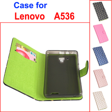 L-Right Stars Green Bottom For Lenovo A536 case cover, Good Quality Leather Case Back cover For Lenovo A 536 Phone Case In Stock(China)