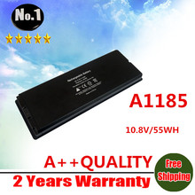 "wholesale  New laptop battery for apple  MacBook 13"" MA699  MA561FE/A MA561G/A MA561J/A  A1185 Free shipping"