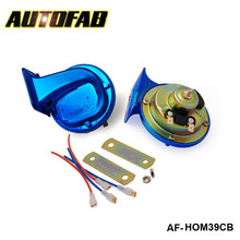 AUTOFAB - Hi Quality copper wire Chromatic Blue electric car/Electrical/Snail Horn For Car/Auto/Truck For Honda crv AF-HOM39CB