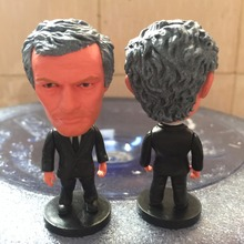 Soccerwe 2017 Season 6.5 cm Height Football Coach Dolls United Mourinho Figure for Souvenir Gift Black Suit(China)