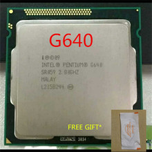 intel Pentium G640 cpu 3M/2.80 GHz LGA 1155 TDP 65W H61 B75 81 B85 motherboard have a Pentium Dual Core g2030 cpu sale(China)