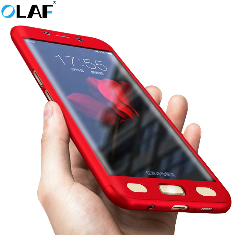 OLAF 360 Degree Full Cover Case For Samsung Galaxy S6 S7 S8 plus Ultra Thin Back Case Coque For Samsung Galaxy Note 8 S6 S7 Edge