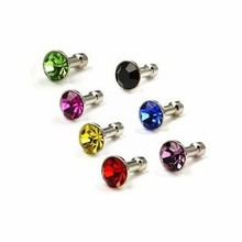 Diamond Anti Dust 3.5mm Earphone Jack Plug Stopper for iPhone 4 4S 5 5S 6 Samsung Galaxy S2 S3 i9300 Note 2 N7100 Phone Dustplug(China)