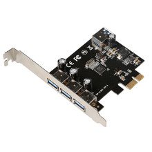 USB 3.0 (3+1) 3 External + 1 Internal Ports PCI-e PCI Experss Controller Card with power supply chip VL805 Wholesale