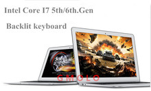 GMOLO 13.3inch aluminium ultrabook laptop Core I7 5th.Gen backlit keyboard 4GB 128GB SSD USB 3.0 HDMI I7 windows 10 notebook(China)