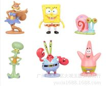 Anime Figure PVC Cute SpongeBob Figures 6pcs/lot 3-6cm Classic Toys For Christmas Gift