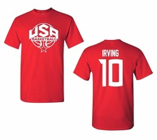 2017 Newest Men's Funny Fashion Classic T Shirt USA Men's Basketballer Irving #10 Front & Back Fashion T-Shirts Men Tee Shirt(China)