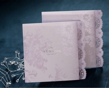 2017 NEW 50pcs wishmade B0003 Elegant Craft Lace Design wedding invitation card with one page Inner sheet,Envelope