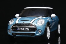 Diecast Car Model Norev Minicooper S Mini Cooper S 1:18 (Light Blue) + SMALL GIFT!!!!!