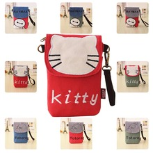 Girls Fashion Cartoon Character Totoro Baymax Hello Kitty Mobile Phone Bag Pouch Holder Mini Crossbody Shoulder Bag for Phones