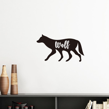 Wolf Black And White Animal Silhouette Removable Wall Sticker Art Decals Mural DIY Wallpaper for Room Decal(China)