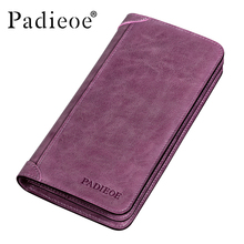 Padieoe 2017 New Arrival Ladies Leather Wallets Luxury Fashion Women's Purse Made Of Genuine Leather Casual Women's Wallets