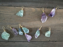 New Arrival Natural fluorite raw ornaments, DIY Hanging decoration, idea for Christmas, party decoration