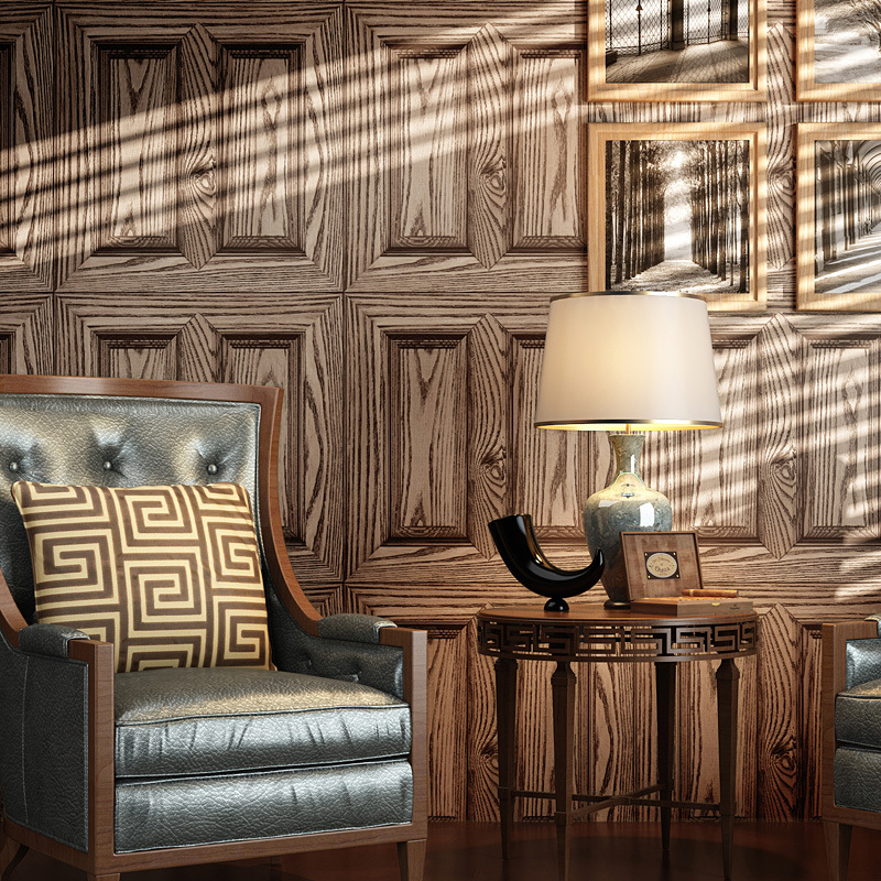 wallpaper for walls 3 d wallpapers wood door shape wall paper papel de parede tapete decor Study room/office 53x1000cm<br>