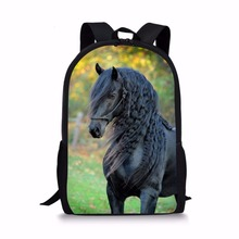 FORUDESIGNS Handsome Horse School Bag for Teen Girls Primary Kids Back Pack Tumblr Notebook Satchel mochila infantil Schoolbags(China)