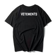 2017 NEW TOP SS16 Summer vetements letter print men Black White short sleeve t shirt hiphop STAFF Fashion Casual Cotton tee S-XL