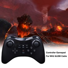 Black white Wireless Remote Controller USB U Pro Game Gaming Gamepad For Nintendo Wii U