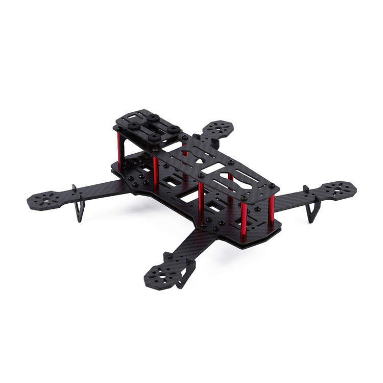 Qav250 3k pure Carbon Fiber Shaft Rack Through Upgraded Version of the Carbon Fiber Frame with Motor Protection Seat<br><br>Aliexpress