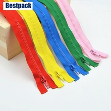 5pcs/lot Multicolor 5# 60cm Resin Zipper for Garments Long coat Down Jacket Sewing accessary