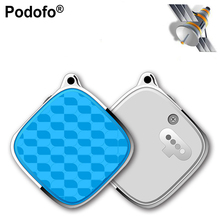 Podofo Mini GPS Tracker With GSM GPRS Tracker SOS Alarm Personal Realtime Locator for Kids Children Support Android/IOS APP PC(Hong Kong)