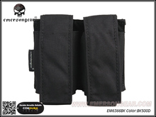 Emersongear Hunting Military Airsoft Paintball Combat Gear LBT Style 40mm Double Pouch Molle Black EM6366BK